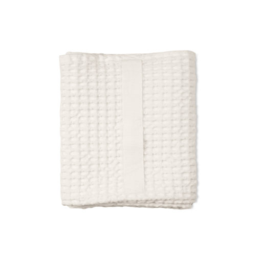 The Organic Company - Waffle Medium towel folded - White